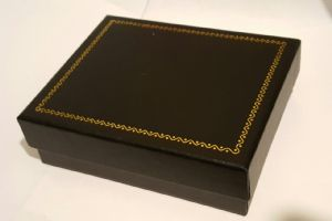Buckle Presentation Box With Black Satin Padded Interior